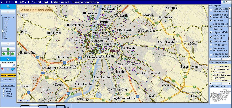 bűnügyi térkép Elkészült az ország bűnügyi térképe « Csepel.info bűnügyi térkép