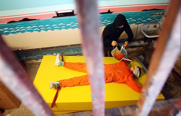 Artist Installs Waterboarding Torture Sideshow At Coney Island