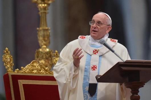 Ferenc pápa: Istenre éhezik és szomjazik a világ (Fotó: Europress/AFP)