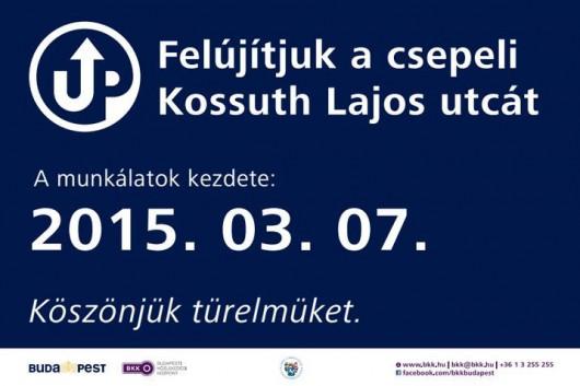 Meghívó – Tájékoztató fórum: Kossuth Lajos utca felújítása