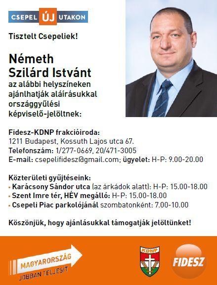 kepviselojeloltek Németh Szilárd István Fidesz