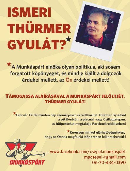kepviselojeloltek Thurmer Gyula Munkaspart