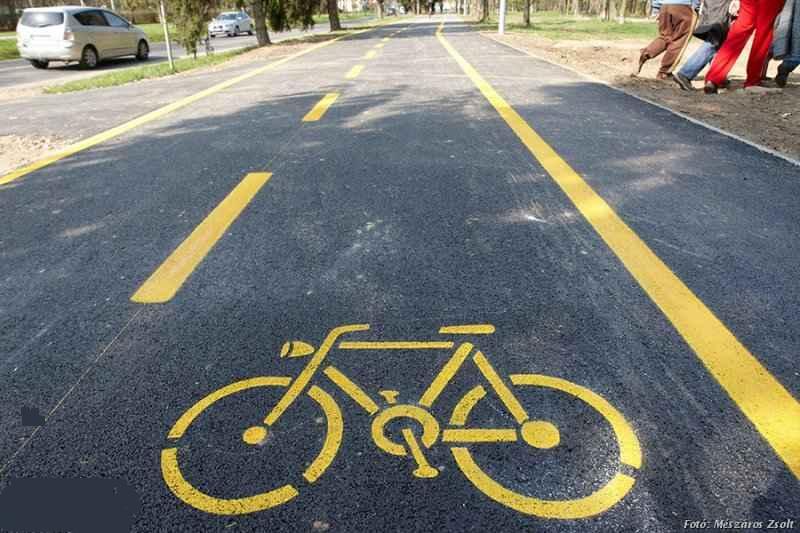 kerékpárút, illusztráció