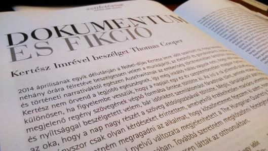 A The New York Times cenzúrázta Kertész Imrét