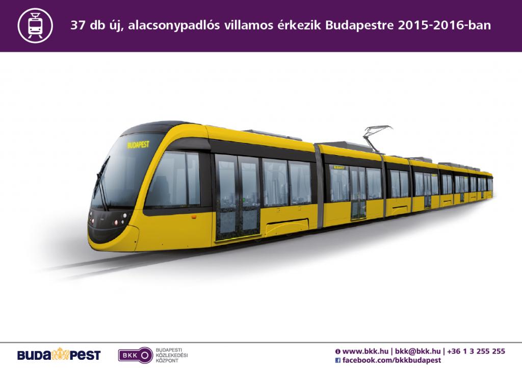 Bemutatták az első CAF-villamost Budapesten